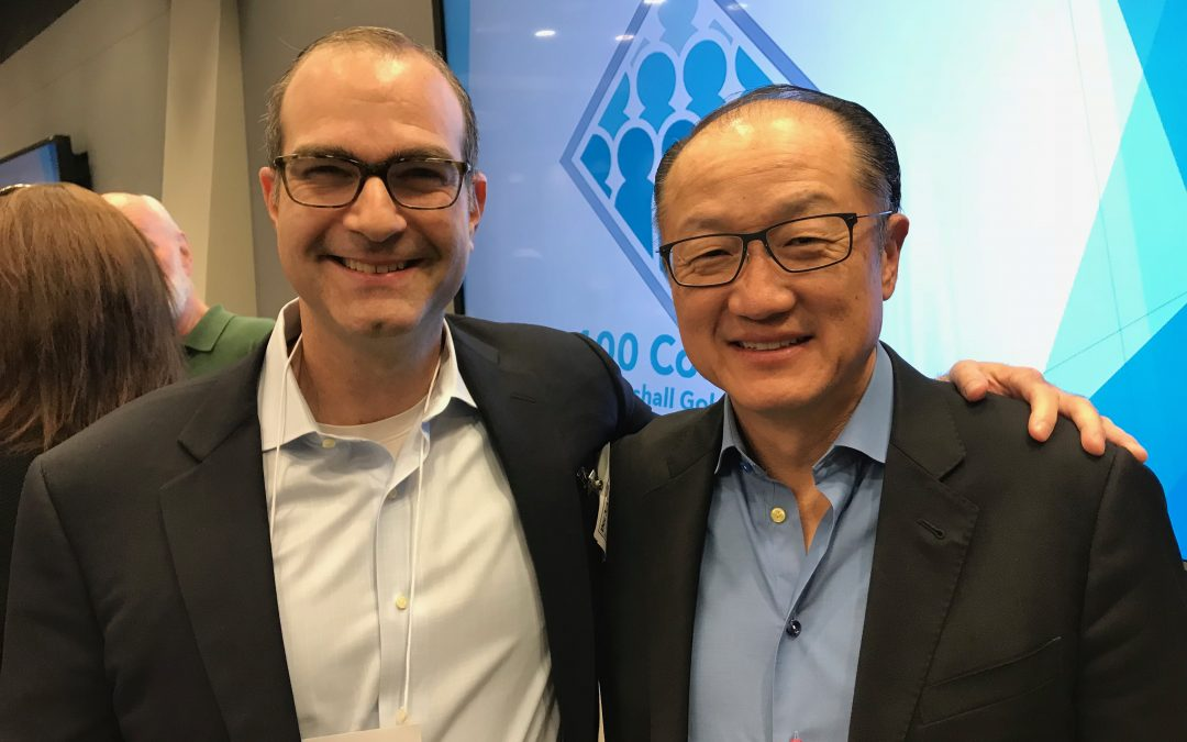 Dr. Jim Kim and Louis Carter