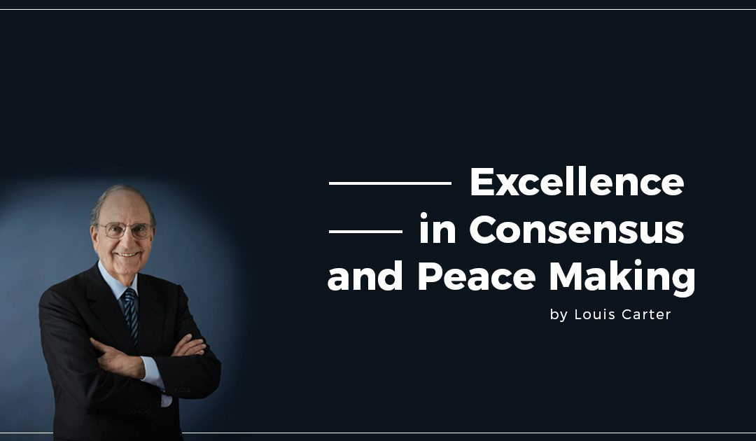 Excellence in Consensus and Peace Making – My interview with George Mitchell