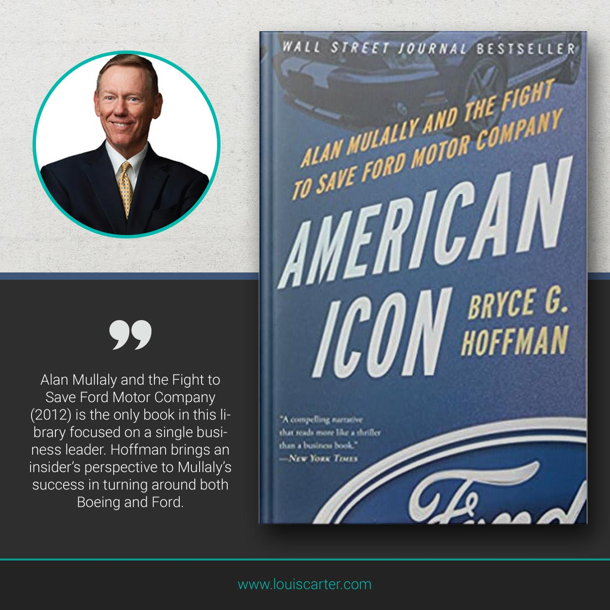 Picture of Books on Leadership American Icon by Bryce G Hoffman.