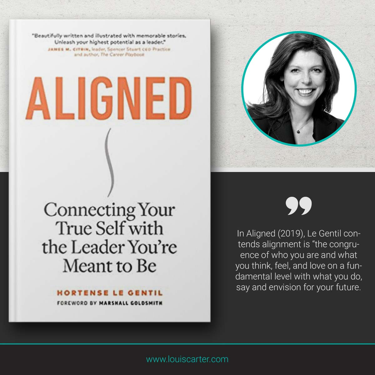Picture of Aligned by Hortense Le Gentil Book on Leadership.