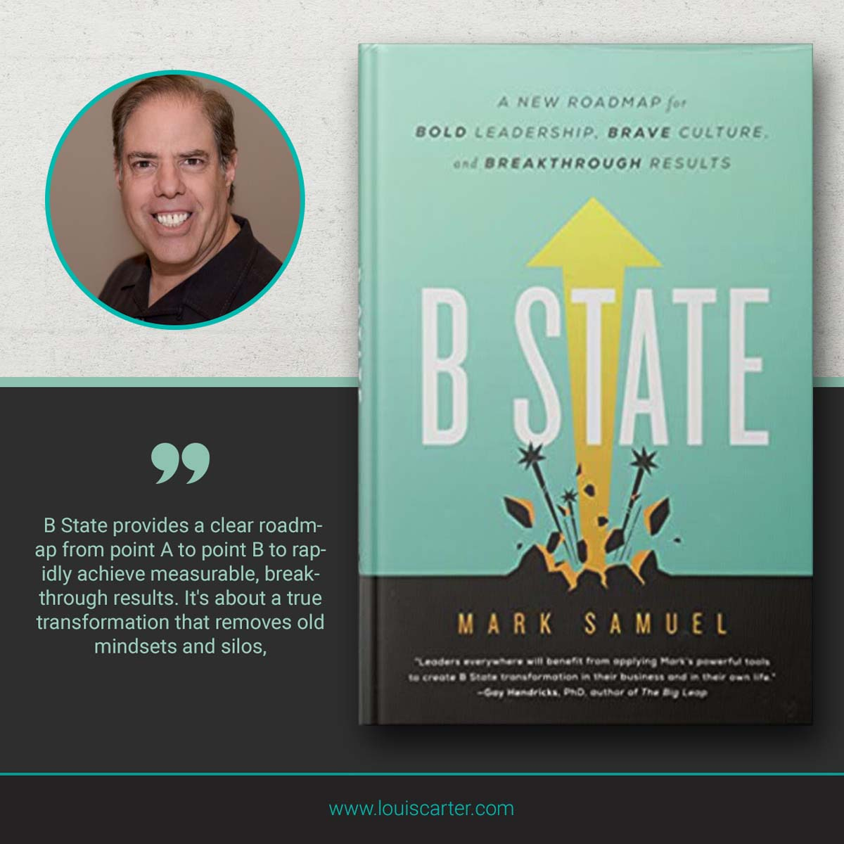 Image of B State books on leadership by Mark Samuel.