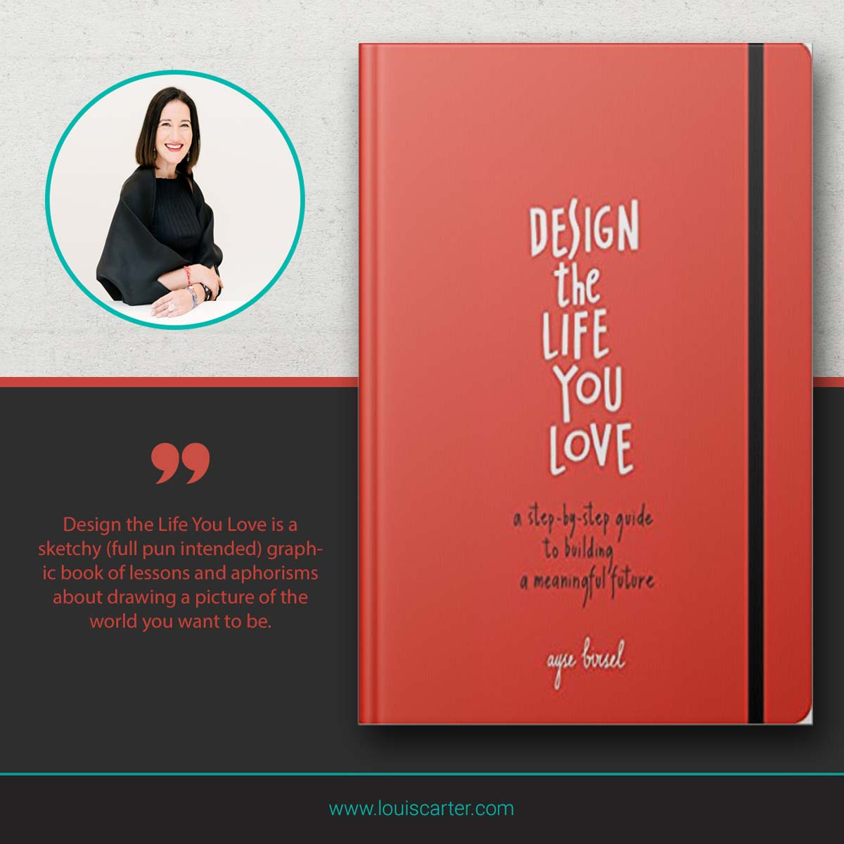 Image of Design the Life You Love By Ayse Birsel leadership book.