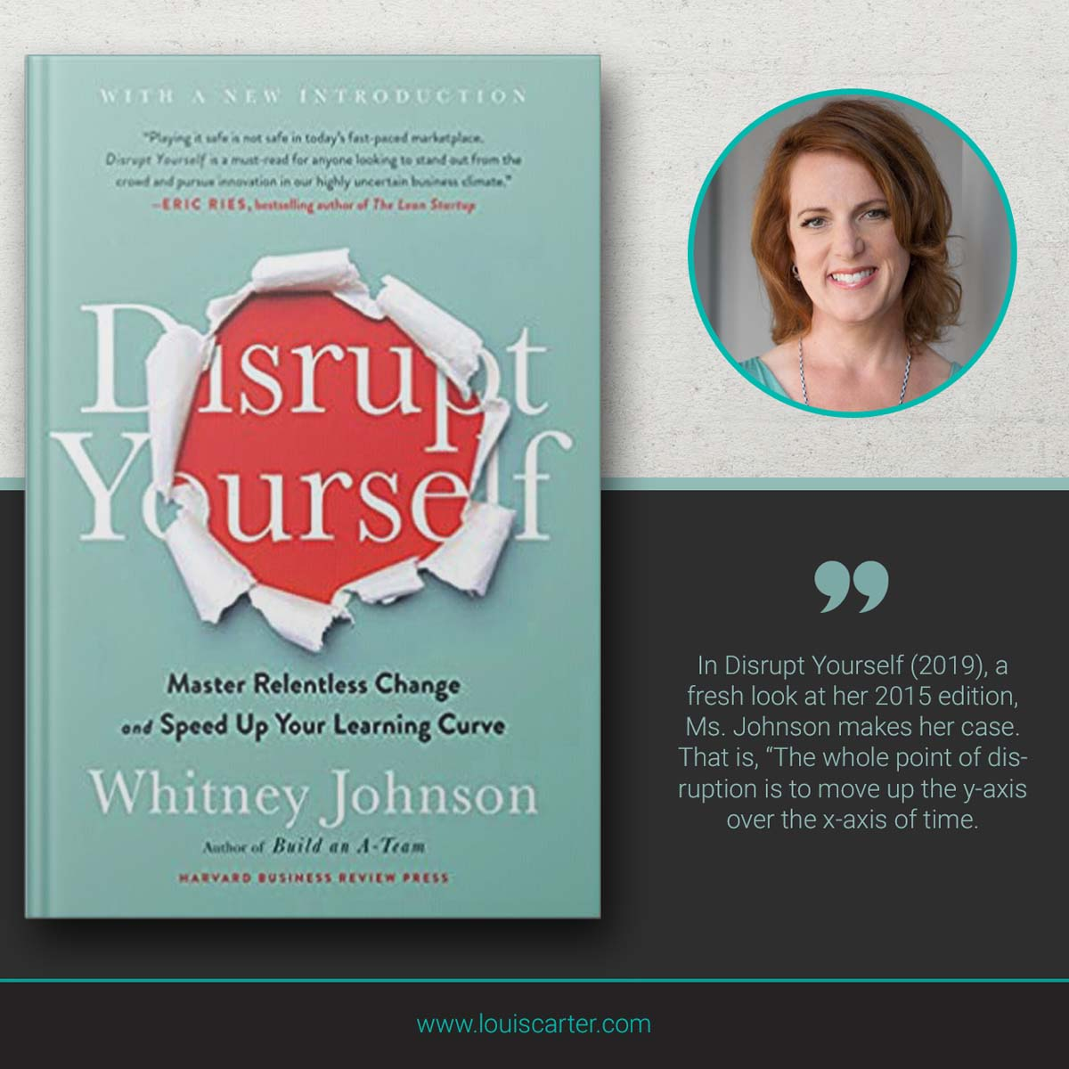 Image of leadership book Disrupt Yourself, With a New Introduction by Whitney Johnson.