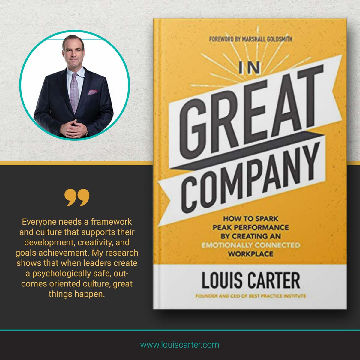 Image of best books on leadership In Great Company by Louis Carter.