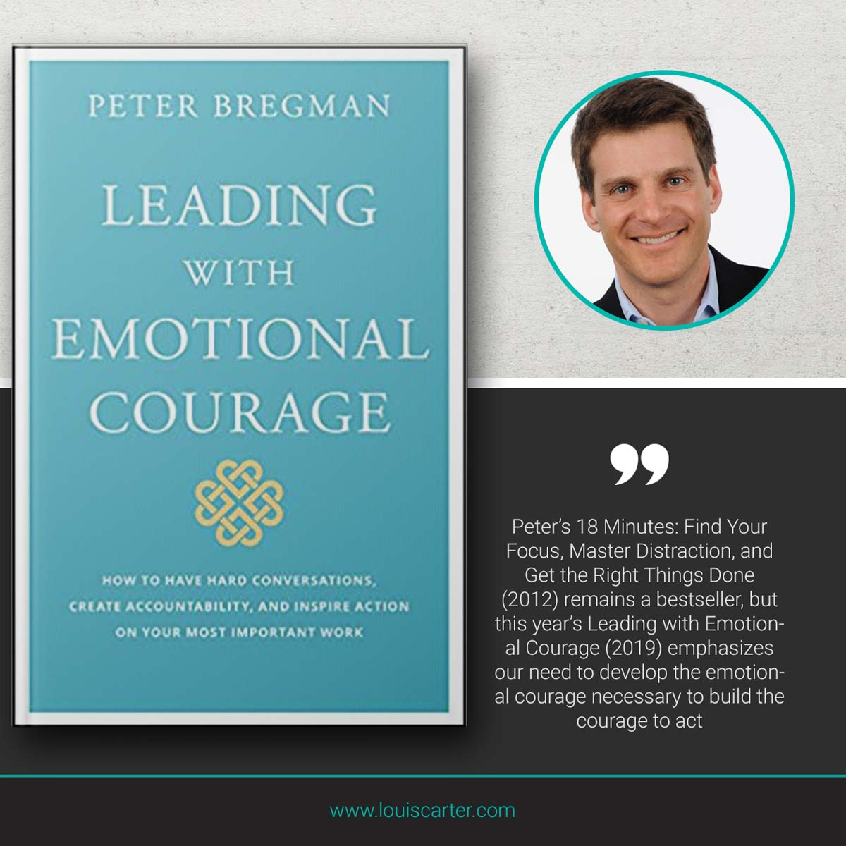 Image of Leading With Emotional Courage by Peter Bregman Leadership book.