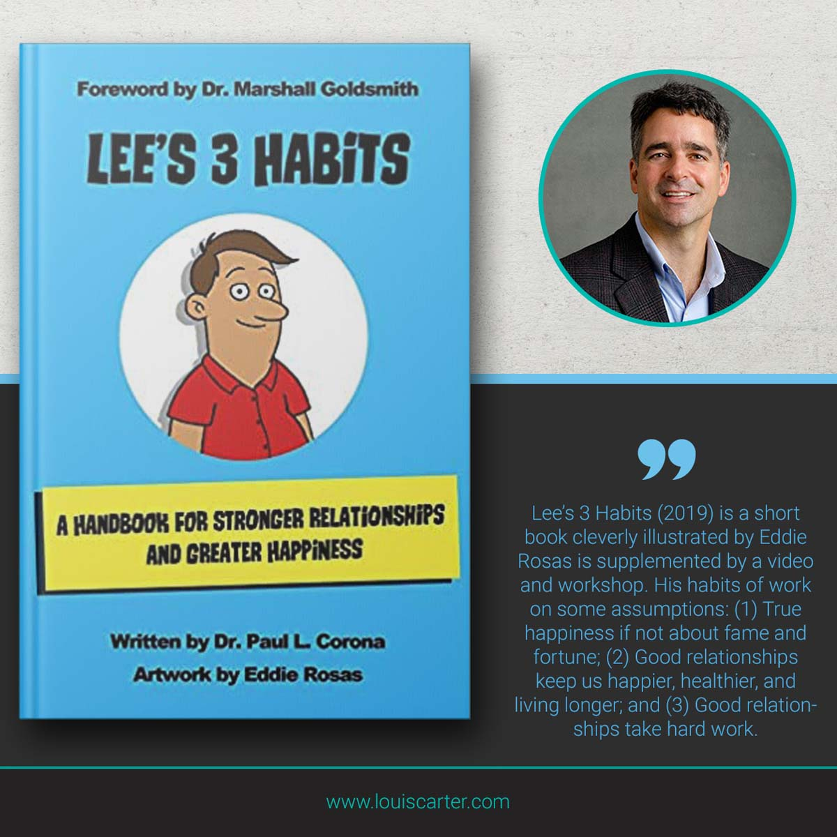 Image of Lee's 3 Habits book on leadership by Paul L Corona