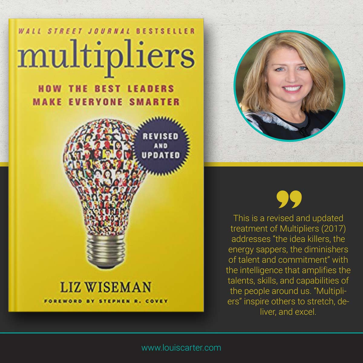 Picture of Multipliers best books on leadership by Liz Wiseman.