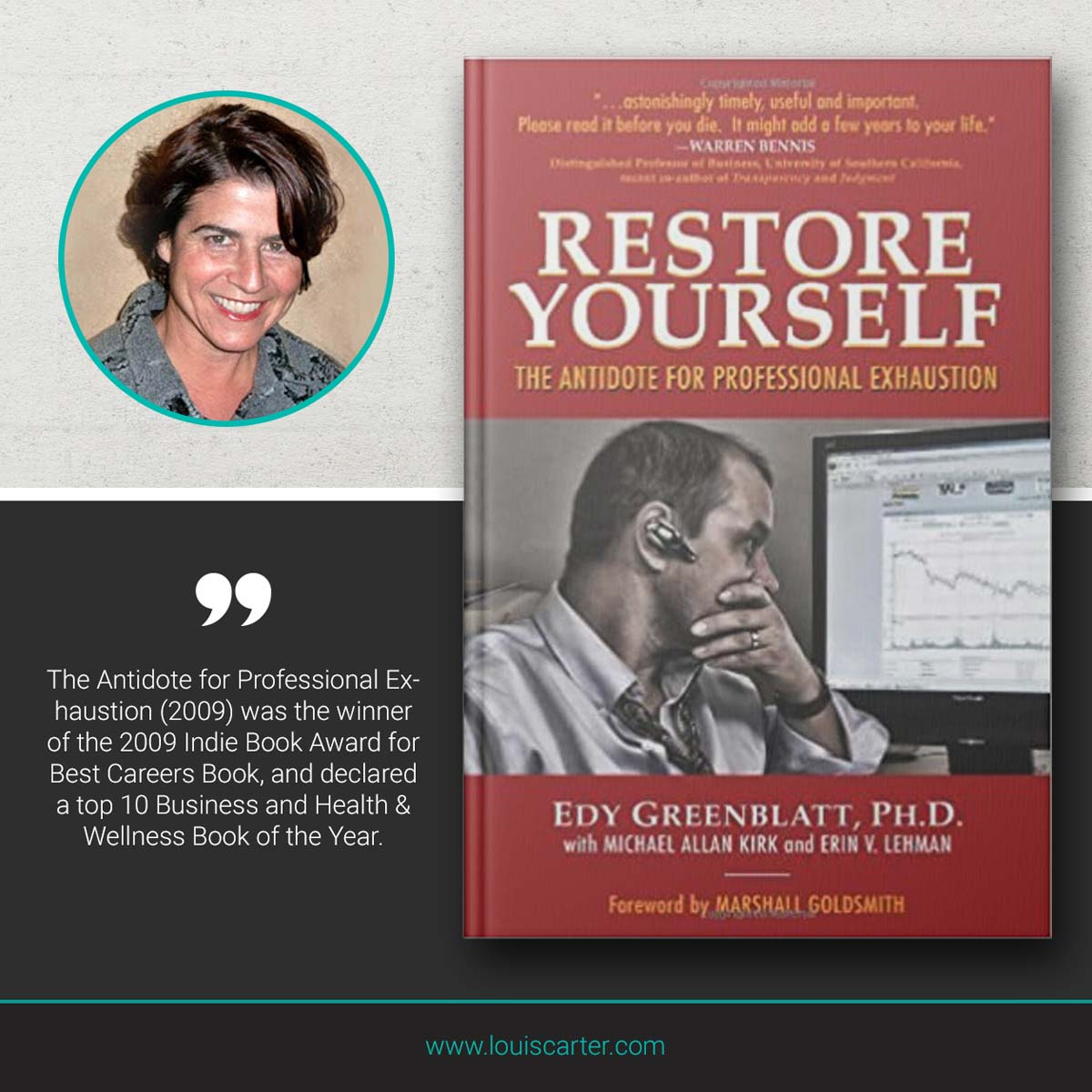 Image of Leadership book Restore Yourself by Edy Greenblatt.