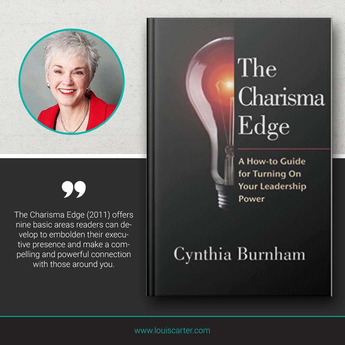 Picture of The Charisma Edge book on leadership by Cynthia Burham.