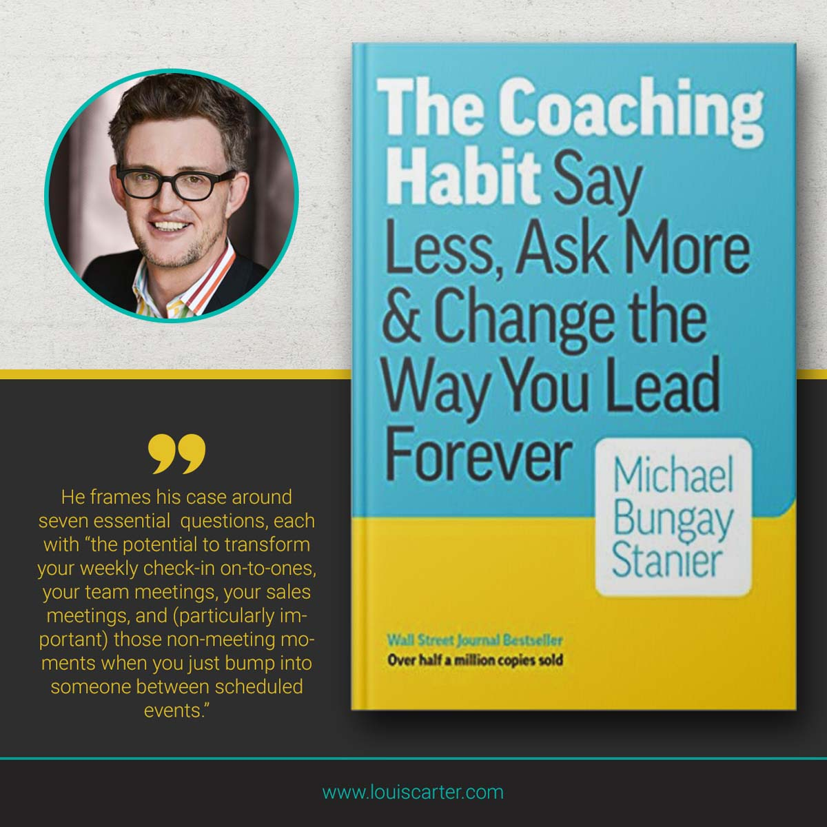 Image of The Coaching Habit by Michael Bungay Stanier leadership books.