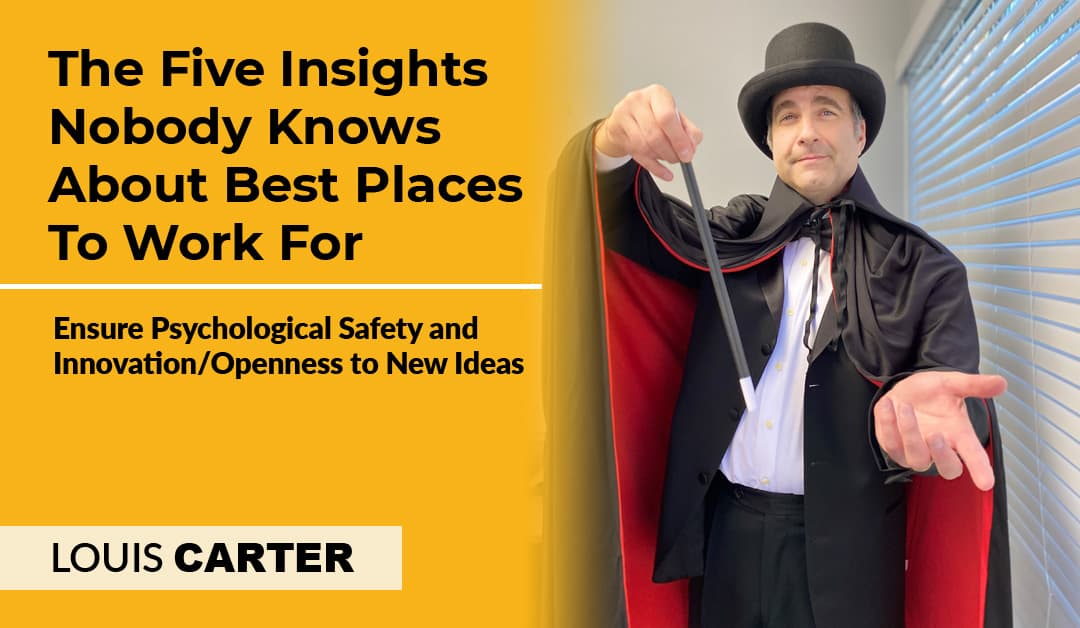 The Five Insights Nobody Knows About Best Places To Work For